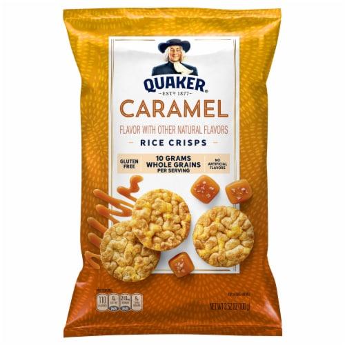 Quaker Rice Crisps Caramel Flavor Popped Snacks Perspective: front
