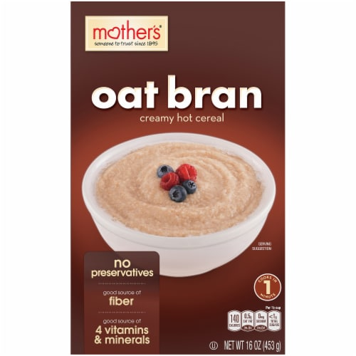 Mother's Oat Bran Creamy Hot Cereal Perspective: front