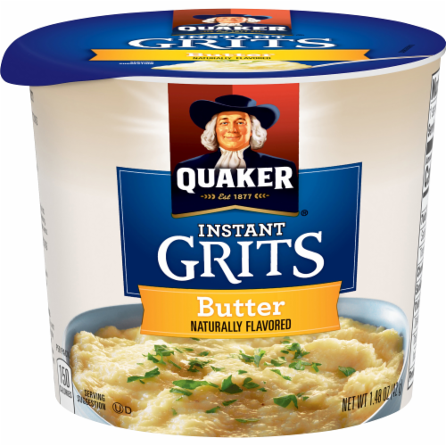 Quaker Instant Grits Butter Flavored Breakfast Express Cup Perspective: front