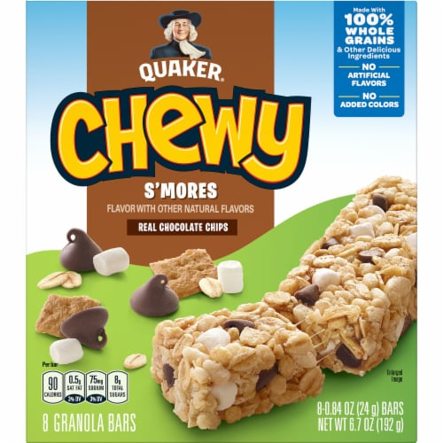 Quaker Chewy S'mores Granola Bars Perspective: front