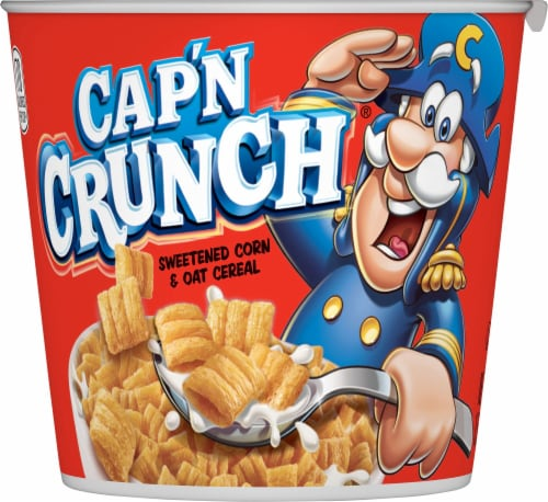 Cap'N Crunch Breakfast Cereal Original Flavor Corn & Oat Cereal Cup Perspective: front