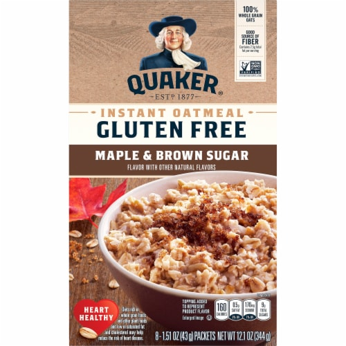 Quaker Select Starts Gluten Free Maple & Brown Sugar Instant Oatmeal Perspective: front