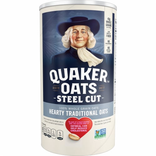 Quaker Oats Steel Cut Oatmeal Perspective: front
