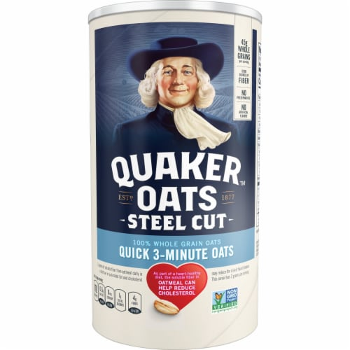 Quaker Steel Cut Oats Whole Grain Oatmeal Perspective: front