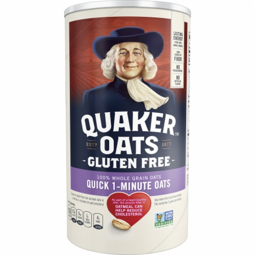 Quaker Gluten Free Quick 1-Minute Oats Perspective: front