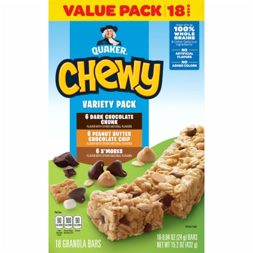Quaker Chewy Granola Bars Variety Pack Perspective: front