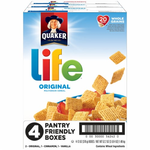 Life Multigrain Cereal Variety Pack 4 Count Perspective: front