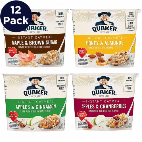 Quaker Express Instant Oatmeal Cups Variety Pack Perspective: front