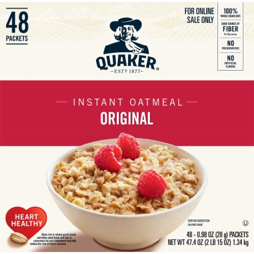 Quaker Original Instant Oatmeal 48 Count Perspective: front