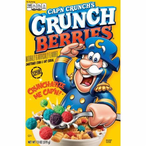 Cap'N Crunch's Crunchberries Sweetened Corn & Oat Cereal Perspective: front
