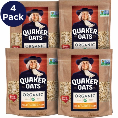 Quaker Organic Old Fashioned Oats Case Perspective: front