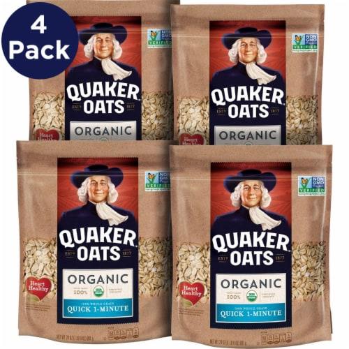 Quaker Organic Quick 1 Minute Oats Perspective: front
