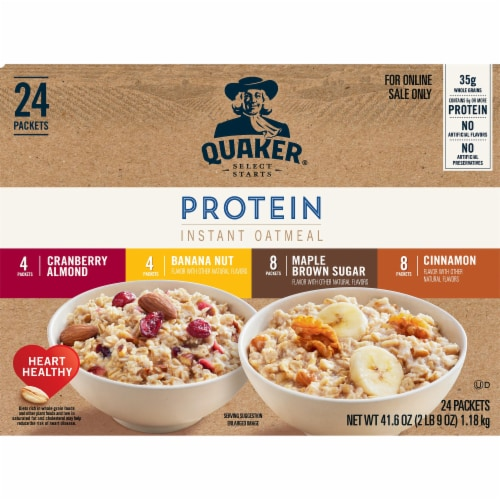 Quaker Protein Select Starts Instant Oatmeal Variety Pack 24 Count Perspective: front