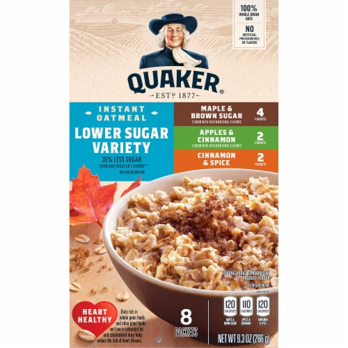 Quaker Lower Sugar Instant Oatmeal Variety Pack Perspective: front