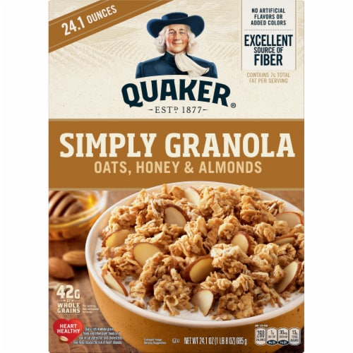 Quaker Simply Oats Honey & Almonds Granola Perspective: front