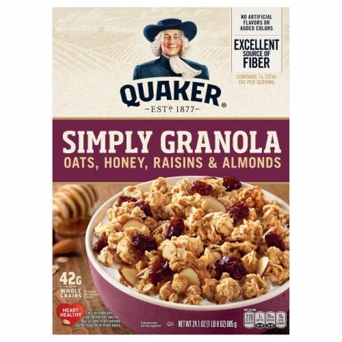 Quaker Simply Raisin Granola Perspective: front