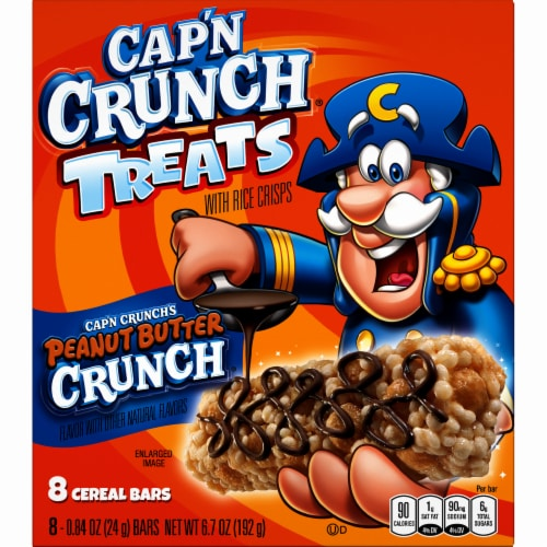 Cap'N Crunch Bar Peanut Butter Cereal Bars Perspective: front
