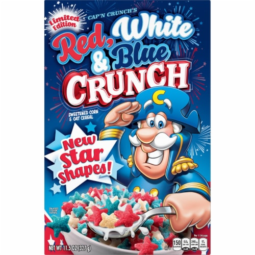 Cap'N Crunch Red White & Blue Crunch Cereal Perspective: front
