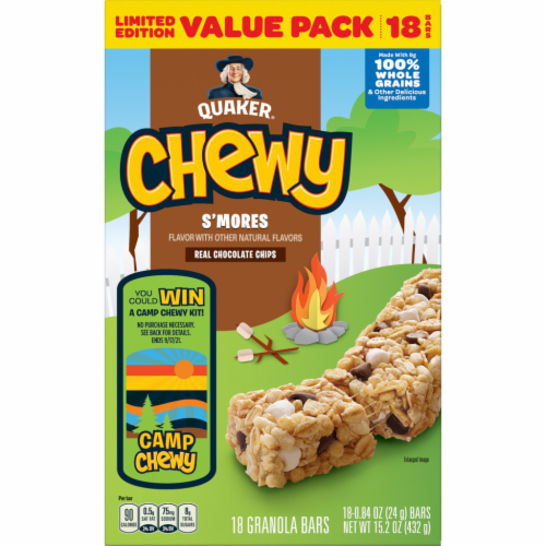 Quaker® Chewy Limited Edition S'mores Granola Bars Value Pack Perspective: front
