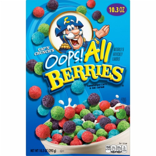 Cap'N Crunch Oops! All Berries Cereal Perspective: front
