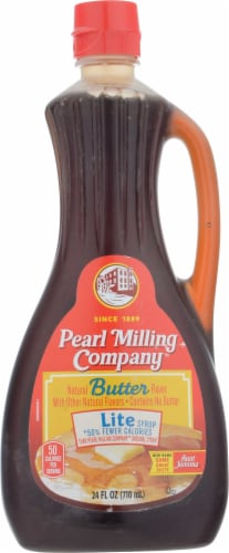 Pearl Milling Company Natural Butter Flavor Lite Syrup Perspective: front