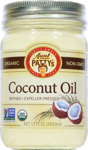Aunt Pattys Coconut Oil Perspective: front