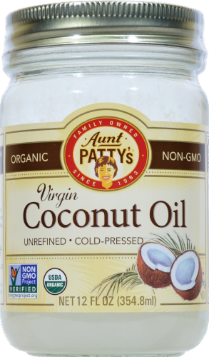 Aunt Pattys Extra Virgin Coconut Oil Perspective: front
