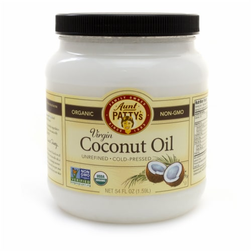 Aunt Patty's Organic Coconut Oil Perspective: front