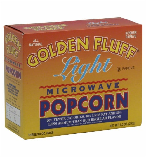 Golden Fluff Microwave Popcorn Light Perspective: front