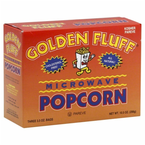 Golden Fluff Microwave Popcorn Perspective: front