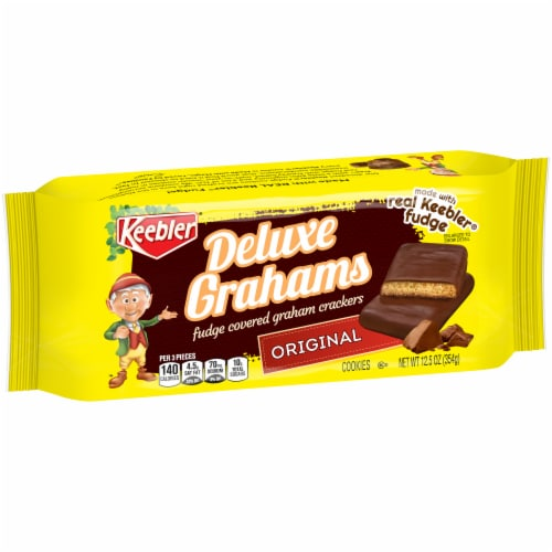 Keebler Deluxe Grahams Fudge Covered Graham Cookies Perspective: front