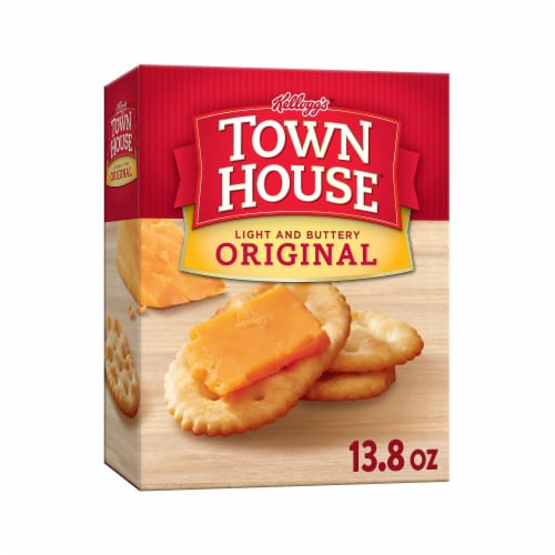 Town House Snack Crackers Original Perspective: front