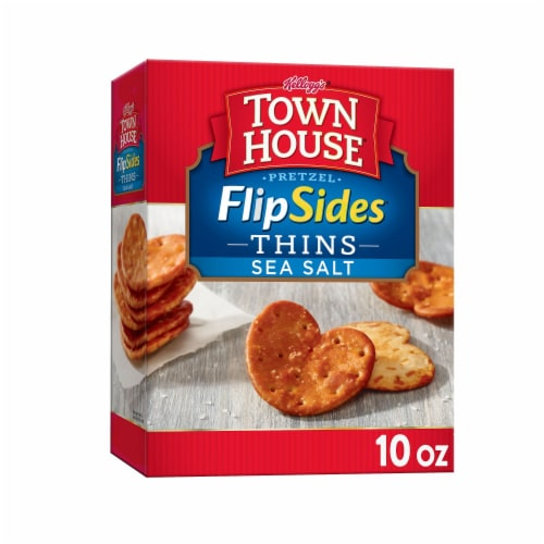 Town House Pretzel FlipSides Snack Crackers Sea Salt Perspective: front