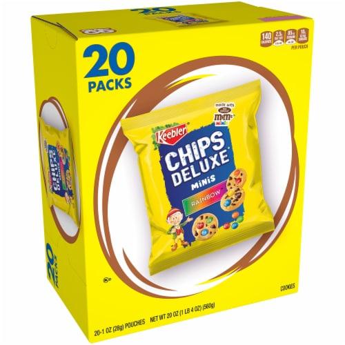 Keebler Chips Deluxe Rainbow Minis Cookies 20 Count Perspective: front