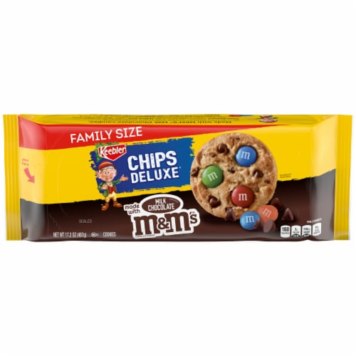 Keebler Chips Deluxe Rainbow Cookies Family Size Perspective: front