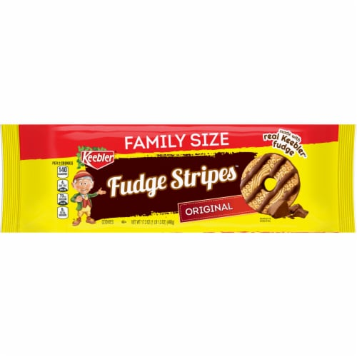 Keebler Original Fudge Stripes Cookies Family Size Perspective: front
