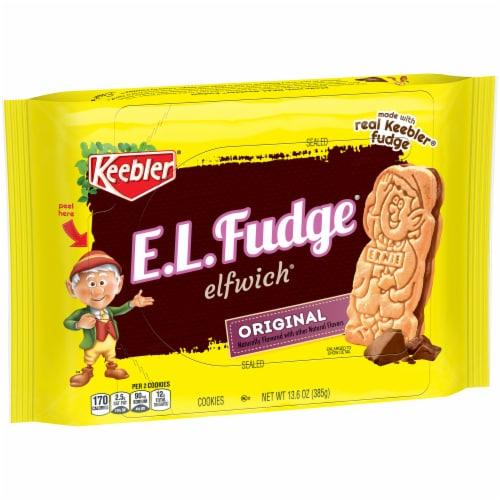 Keebler E.L.Fudge Original Elfwich Cookies Perspective: front