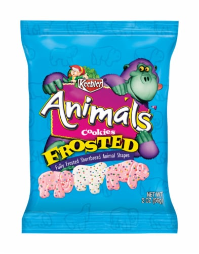 Keebler Frosted Animal Cookies Perspective: front