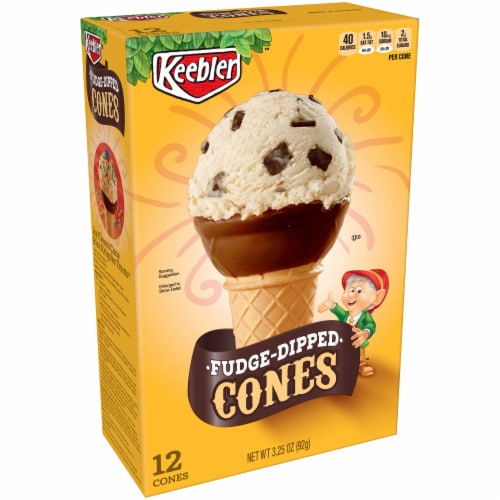 Keebler Fudge Dipped Cones 12 Count Perspective: front