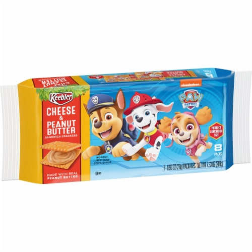 Keebler Paw Patrol Cheese & Peanut Butter Sandwich Crackers Perspective: front