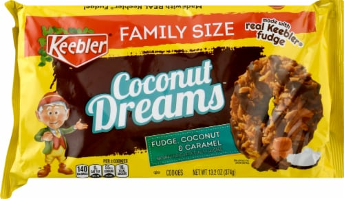 Keebler Coconut Dreams Cookies Perspective: front