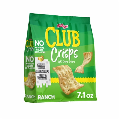 Club Crisps Ranch Crackers Perspective: front