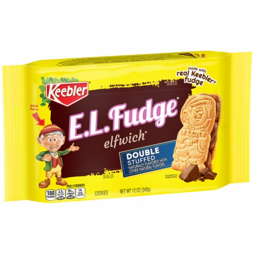 Keebler E.L.Fudge Double Stuffed Elfwich Cookies Perspective: front