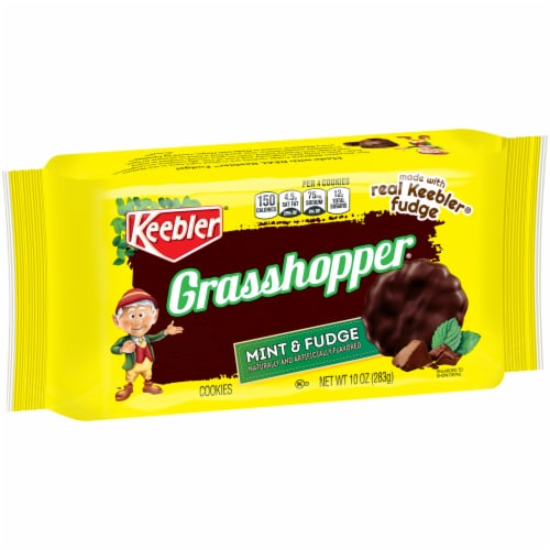 Keebler Mint and Fudge Grasshopper Cookies Perspective: front