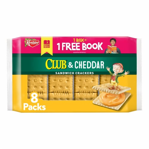 Keebler Club and Cheddar Sandwich Crackers Perspective: front