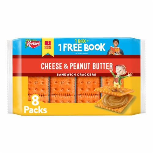 Keebler Cheese & Peanut Butter Sandwich Crackers Perspective: front