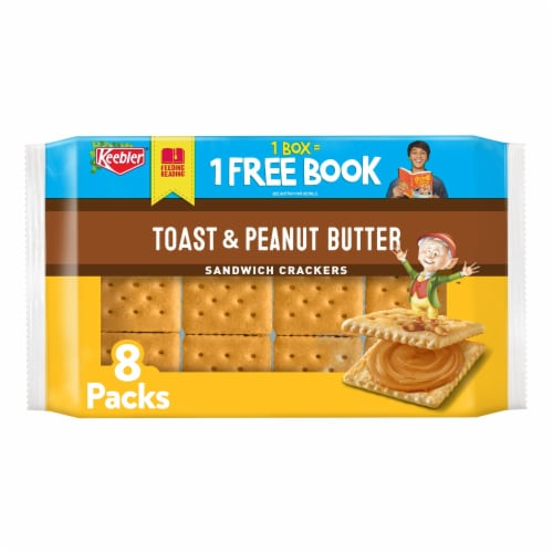 Keebler Toast & Peanut Butter Sandwich Crackers Perspective: front