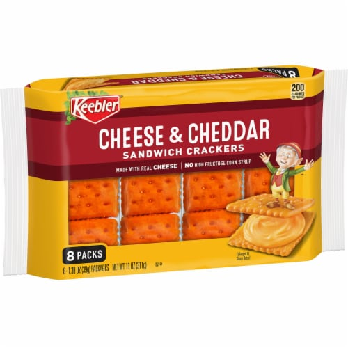 Keebler Cheese & Cheddar Sandwich Crackers Perspective: front