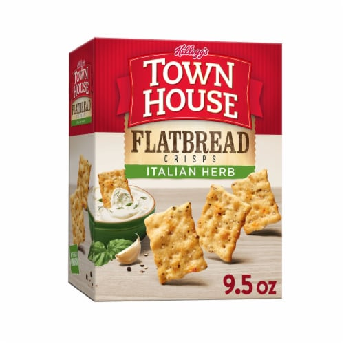 Town House Flatbread Crisps Crackers Italian Herb Perspective: front