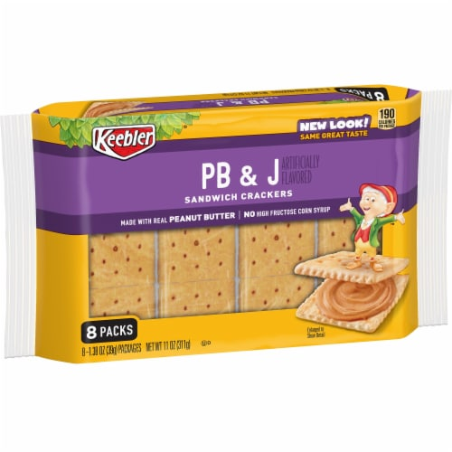Keebler PB & J Sandwich Crackers Perspective: front